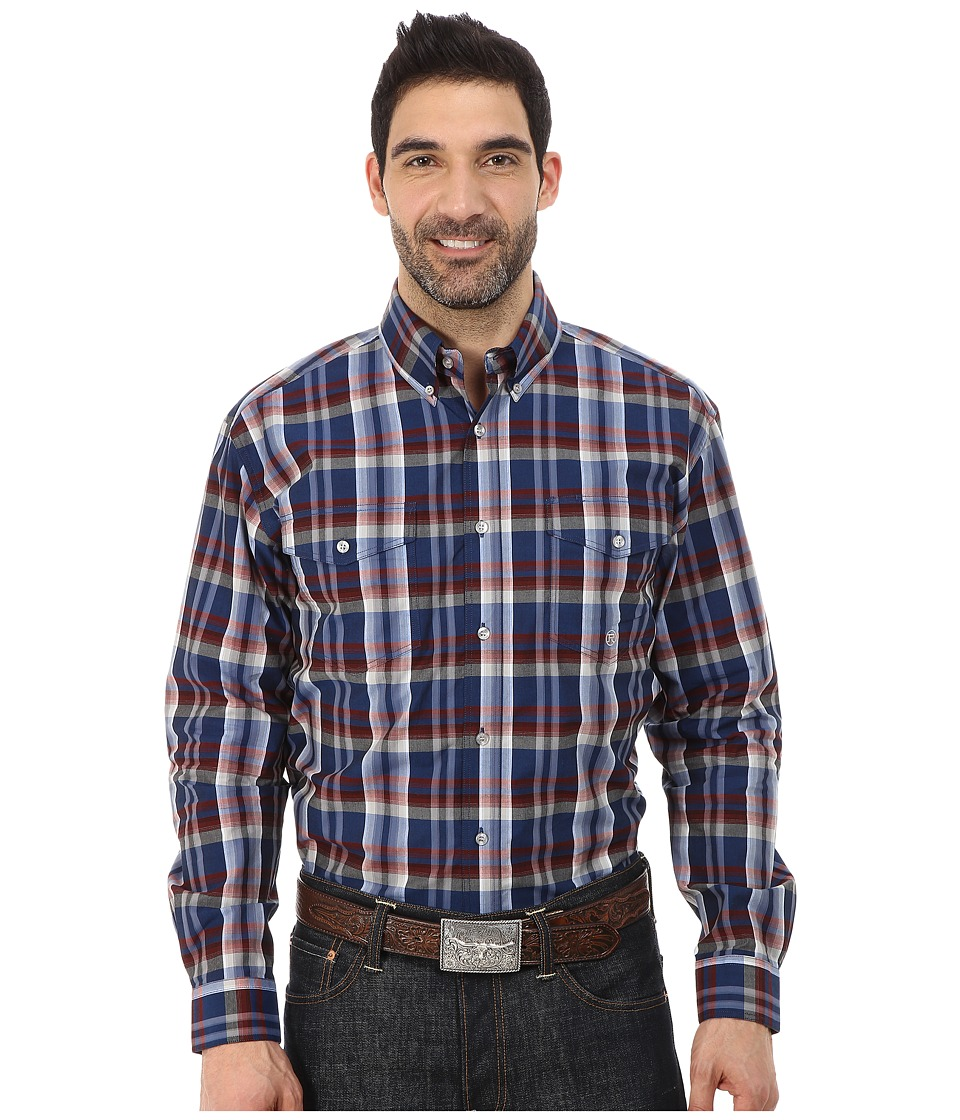 Roper - 0047 Sapphire Plaid (Blue) Men's Clothing