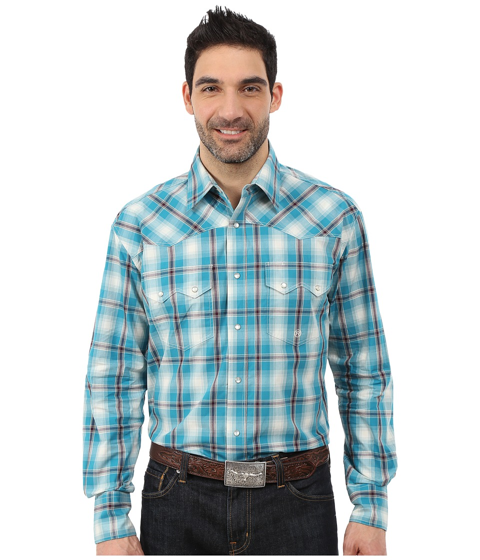 Roper - 0049 Box Plaid (Blue) Men