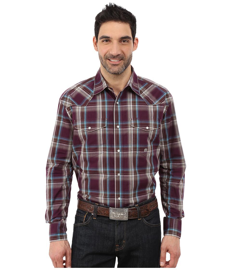 Roper - 0048 Wine Plaid (Purple) Men's Clothing