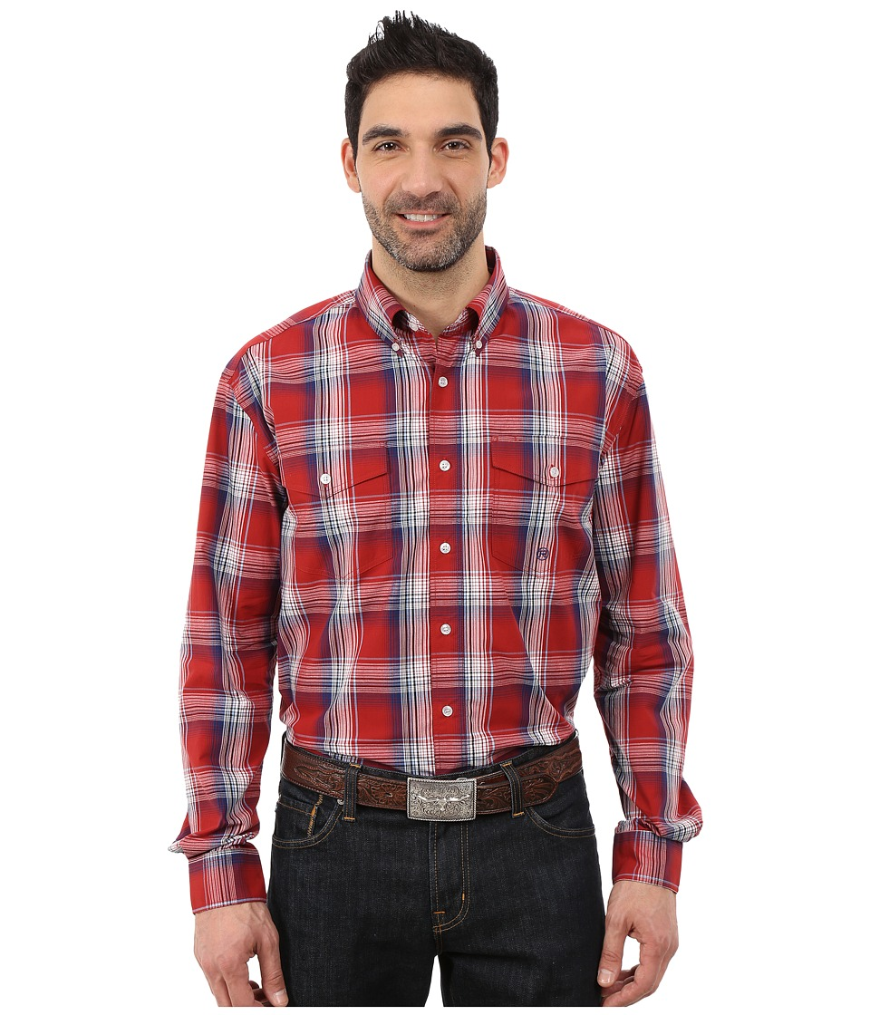 Roper - 0046 Persimmon Plaid (Red) Men's Clothing