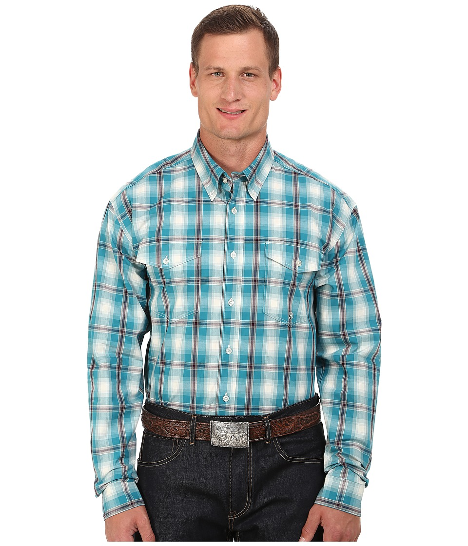Roper - Big Tall 0049 Box Plaid (Blue) Men's Clothing