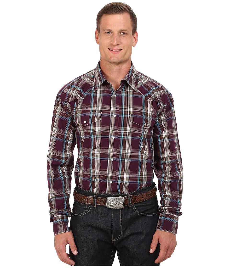 Roper - Big Tall 0048 Wine Plaid (Purple) Men's Clothing