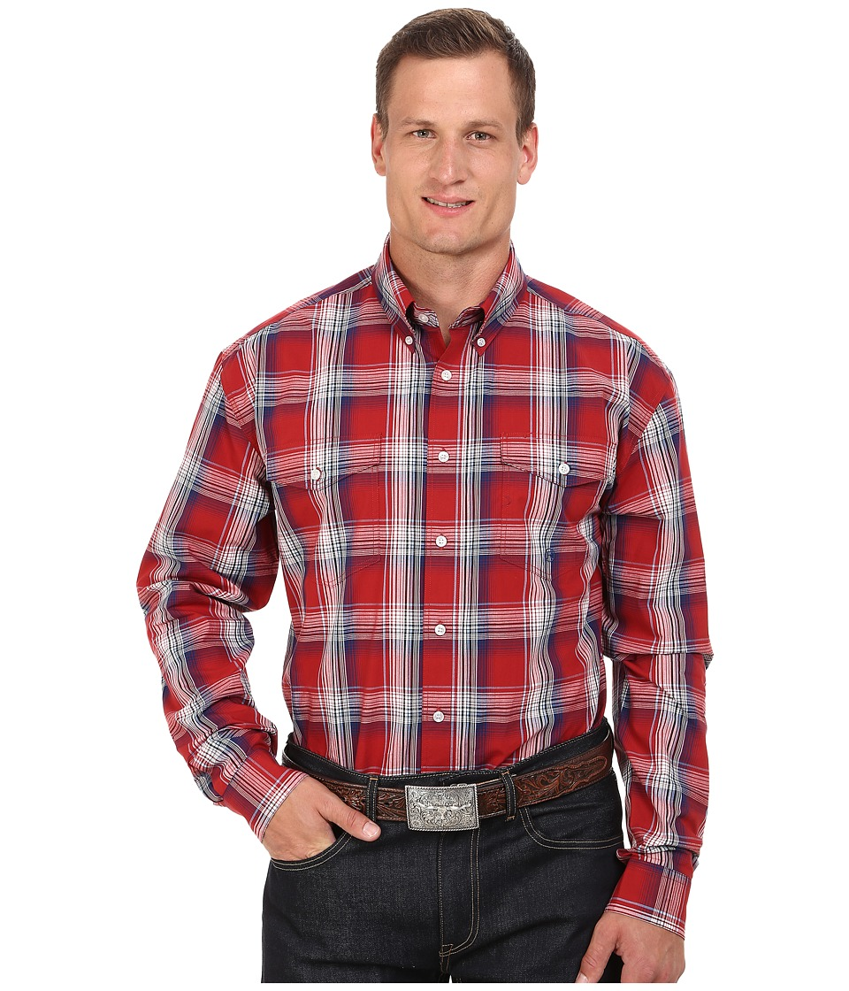 Roper - Big Tall 0046 Persimmon Plaid (Red) Men's Clothing