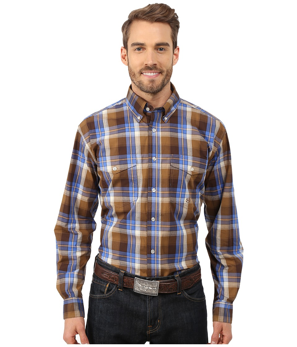 Roper - 0057 Harvest Plaid (Brown) Men's Clothing