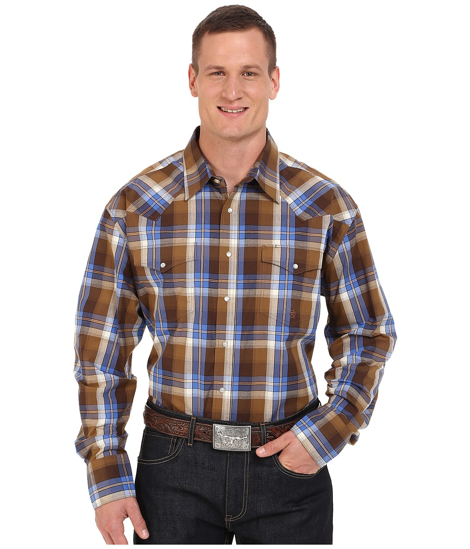Roper - Big Tall 0057 Harvest Plaid (Brown) Men's Clothing