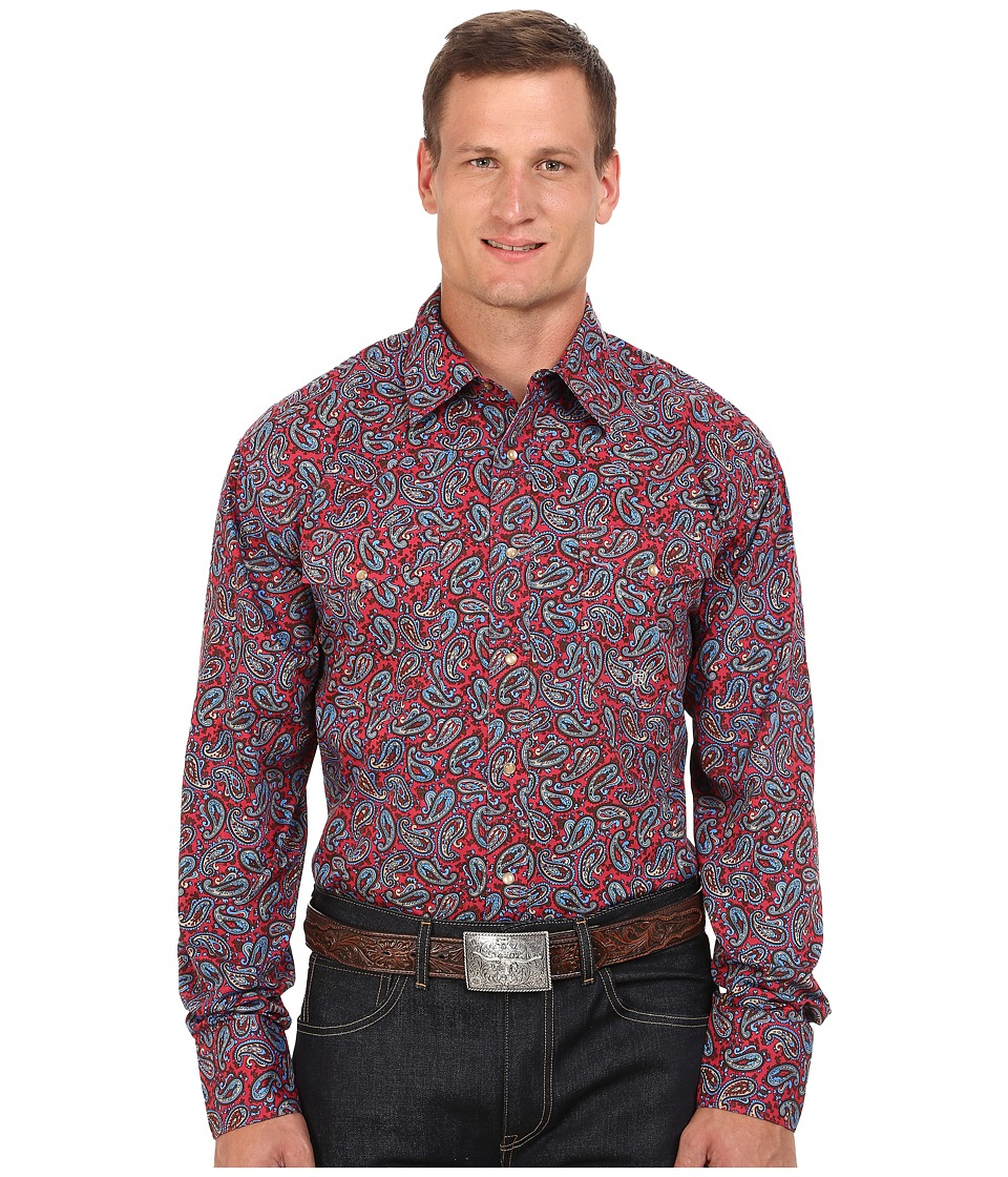 Roper - Big Tall 0050 Plaza Paisley (Red) Men's Clothing