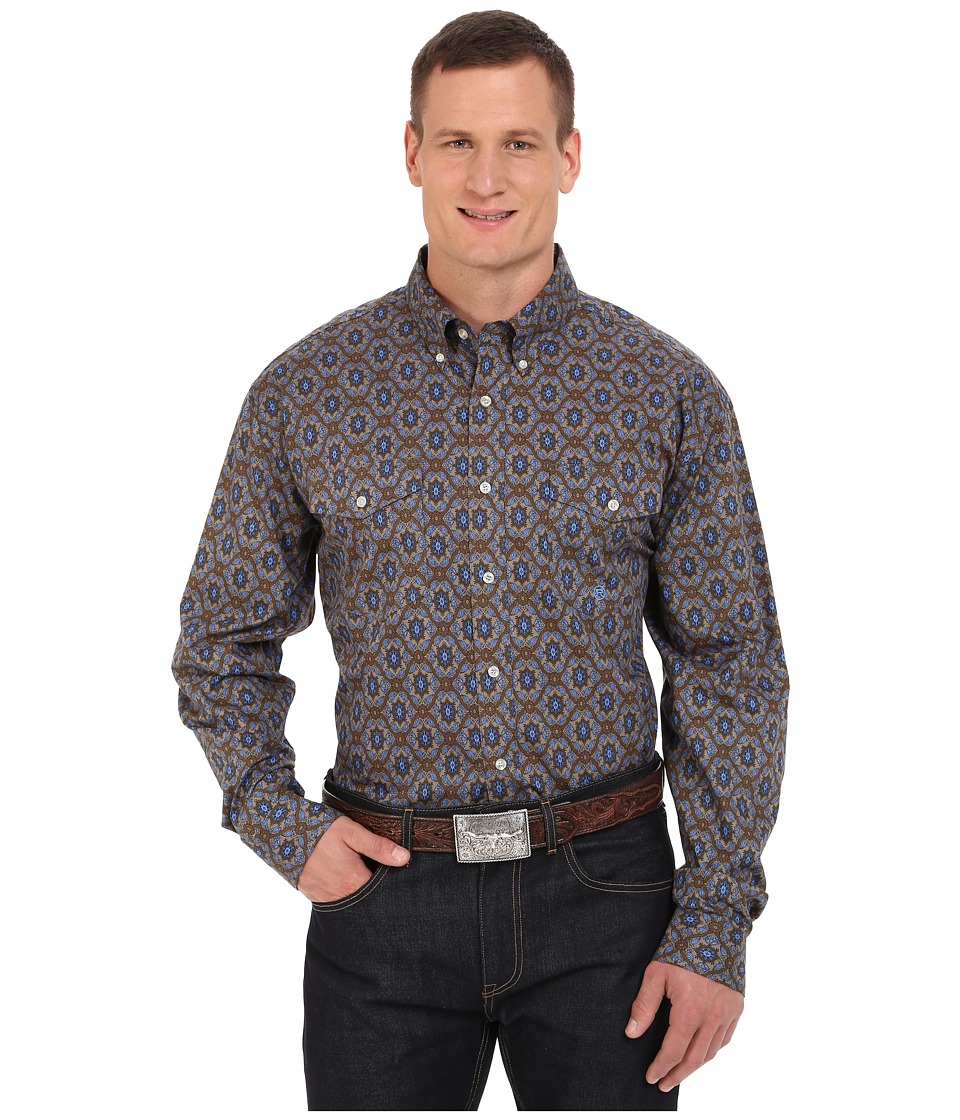 Roper - Big Tall 0061 Winter Medallion (Brown) Men's Clothing