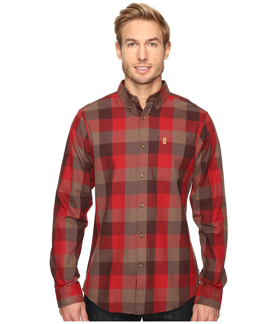 Fj llr ven - vik Big Check Shirt Long Sleeve (Burnt Red) Men's Clothing