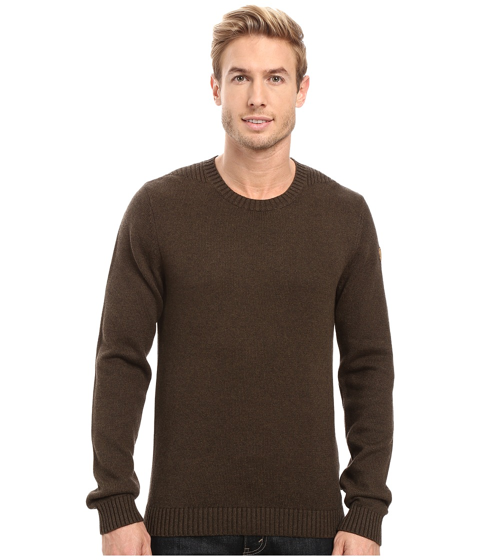Fj llr ven - Ovik Crew Sweater (Dark Olive) Men's Sweater