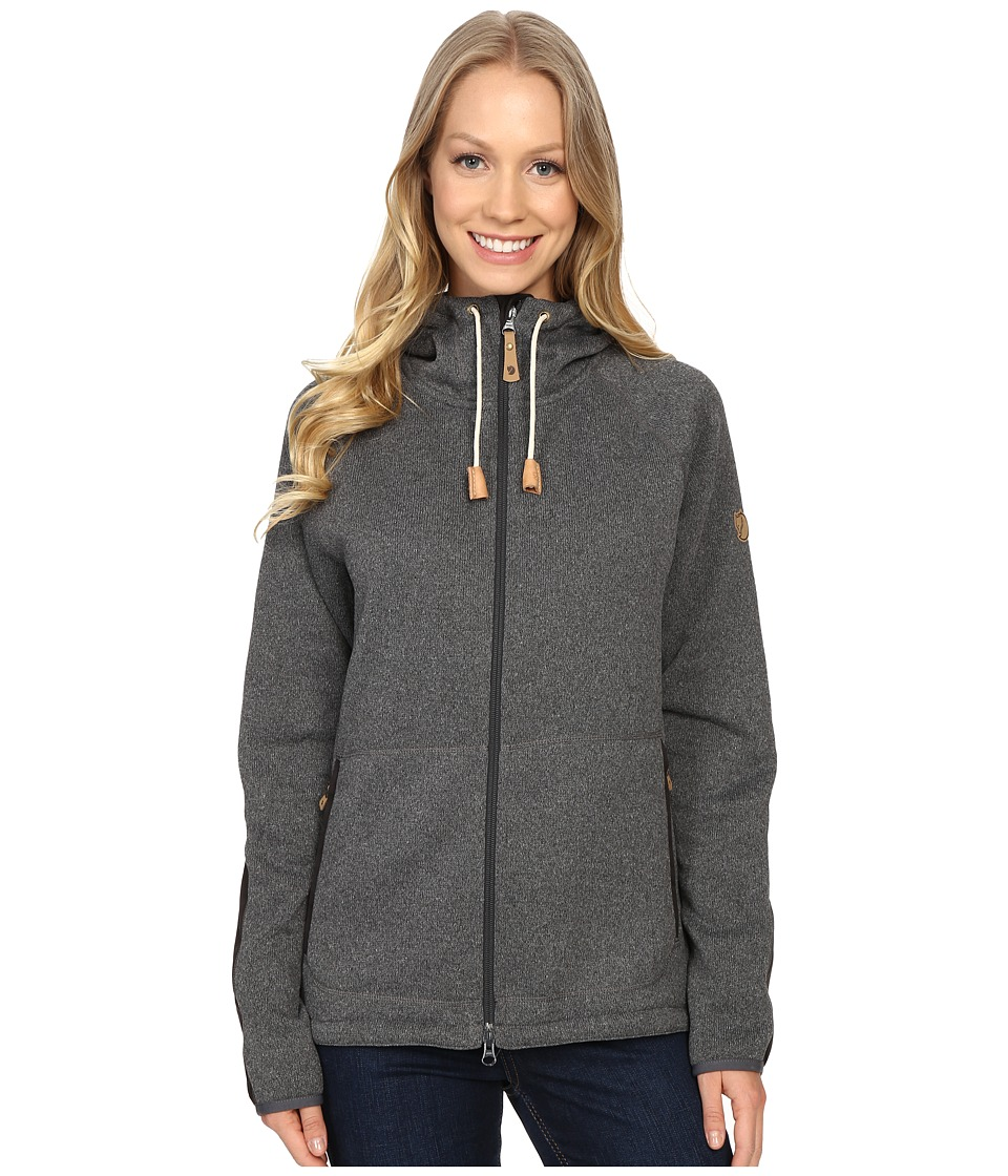 Fj llr ven - vik Fleece Hoodie (Dark Grey) Women's Sweatshirt