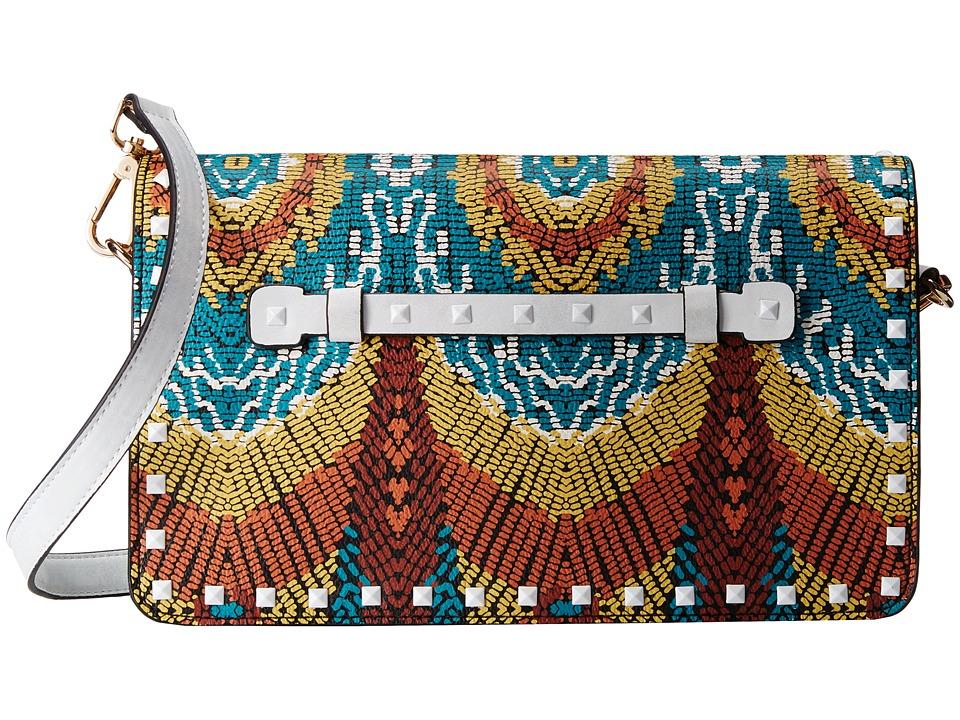 Steve Madden - Floral Clutch (Orange Multi) Clutch Handbags