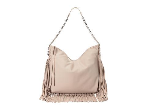 Steve Madden - Bmadly Fringe Trim Hobo (Cream) Hobo Handbags