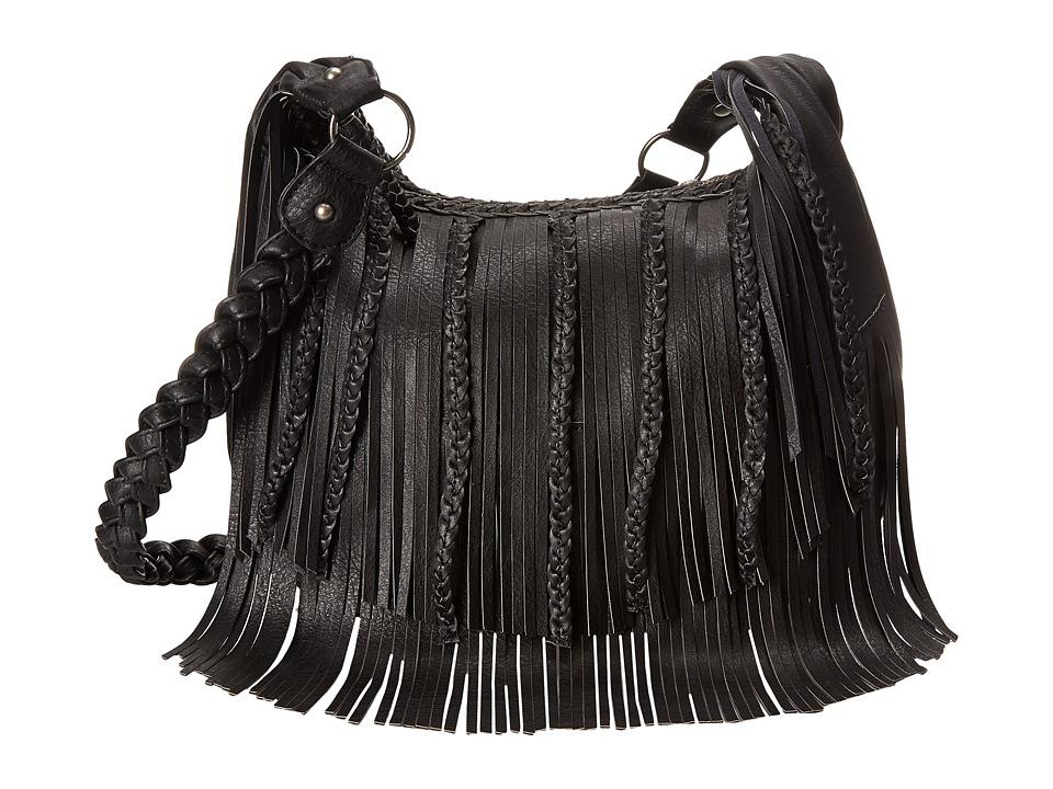 Steve Madden - Fringe Hobo (Black) Hobo Handbags