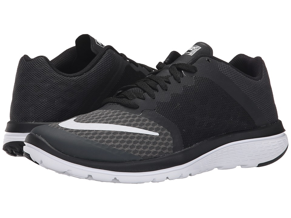 Nike - FS Lite Run 3 (Anthracite/Black/White) Women's Running Shoes