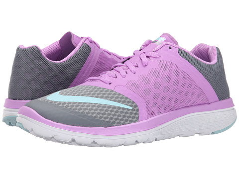Nike - FS Lite Run 3 (Cool Grey/Fuchsia Glow/White/Copa) Women