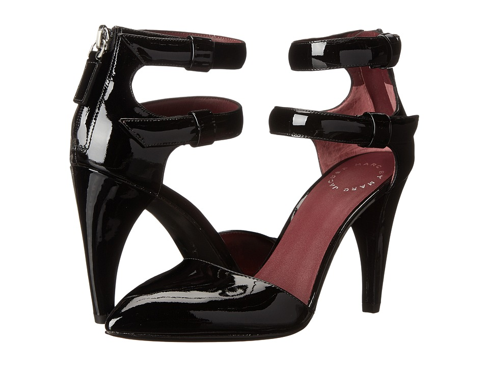 Marc by Marc Jacobs - Reese Shark Tooth High Pump (Black) High Heels