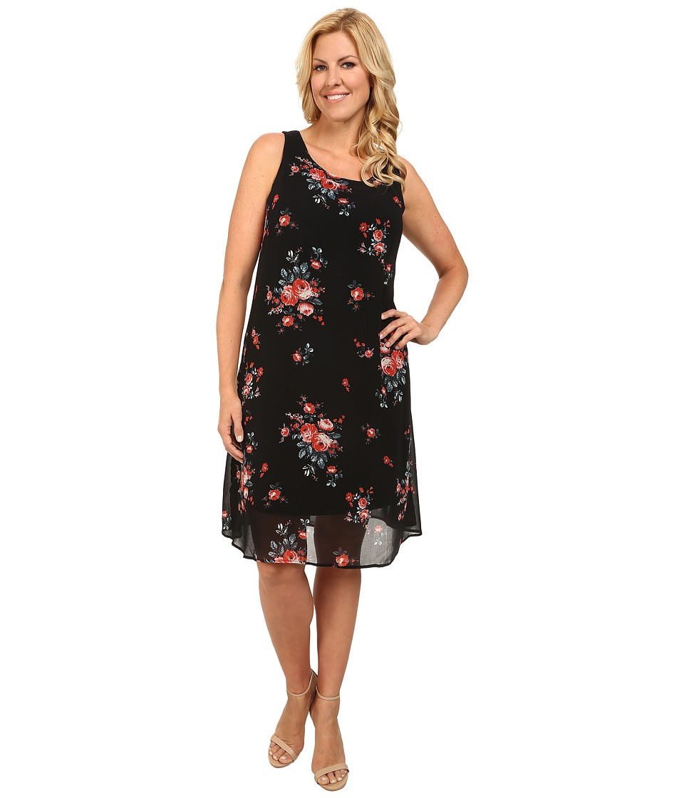 Karen Kane Plus - Plus Size Rose Print Dress (Print) Women's Dress