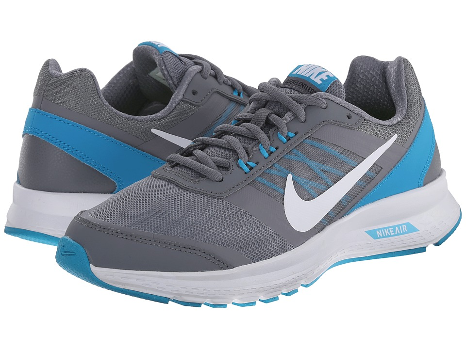 Nike - Air Relentless 5 (Cool Grey/Blue Lagoon/White/White) Women's Running Shoes