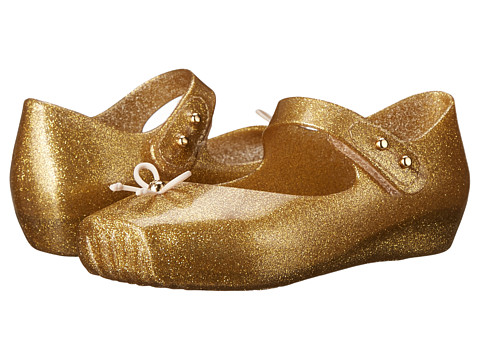 Mini Melissa - Mini Ballet (Toddler) (Gold Glitter) Girls Shoes