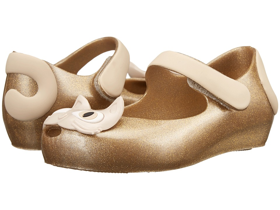 Mini Melissa - Mini Mel Ultra II III (Toddler) (Gold Glitter) Girl's Shoes