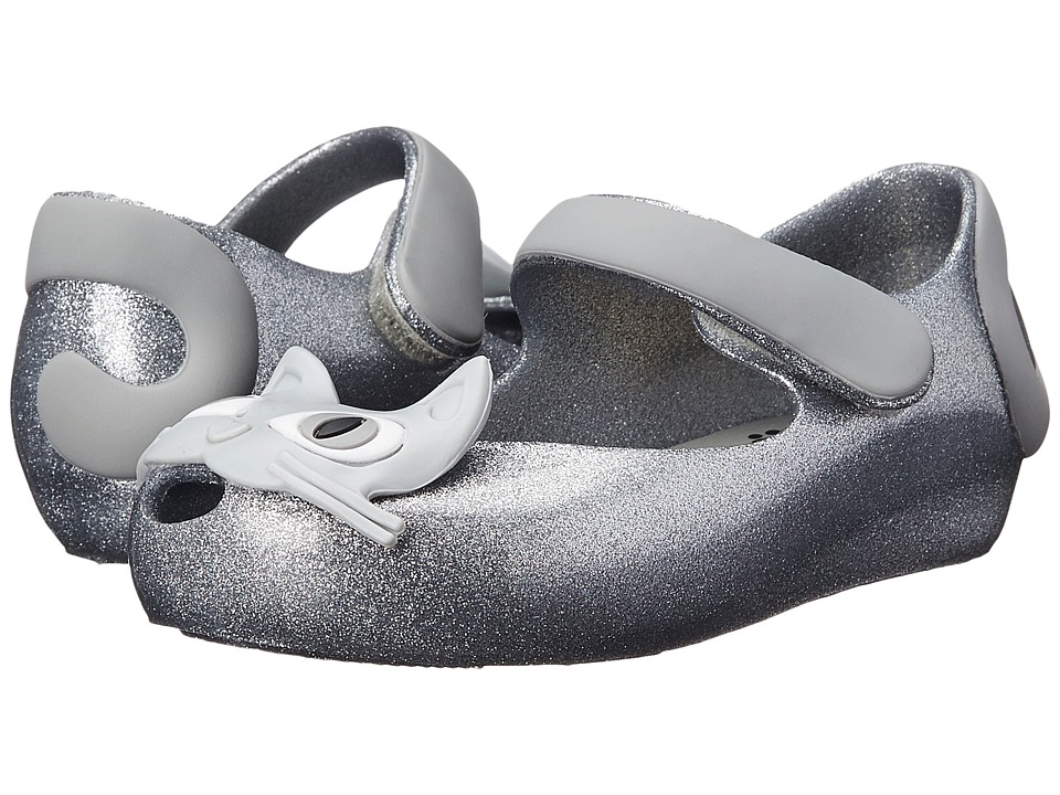 Mini Melissa - Mini Mel Ultra II III (Toddler) (Silver Glitter) Girl's Shoes