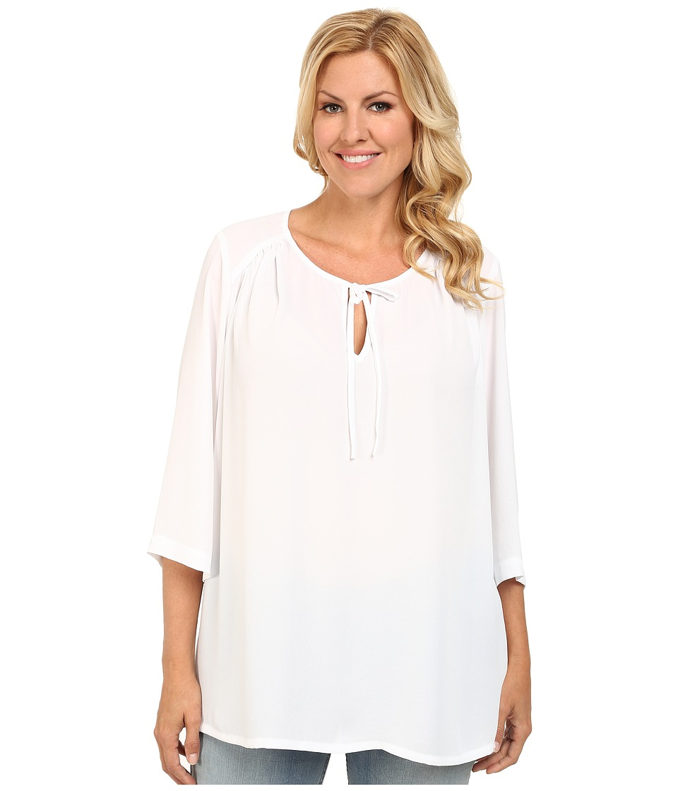 Karen Kane Plus - Plus Size Side Slit Tunic (Off White) Women's Blouse