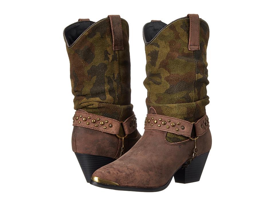 Dingo - Alexis (Brown/Camo) Cowboy Boots