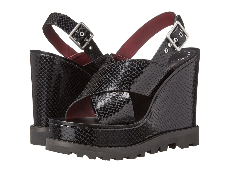 Marc by Marc Jacobs Irving Heavy Tread Wedge (Black) Women