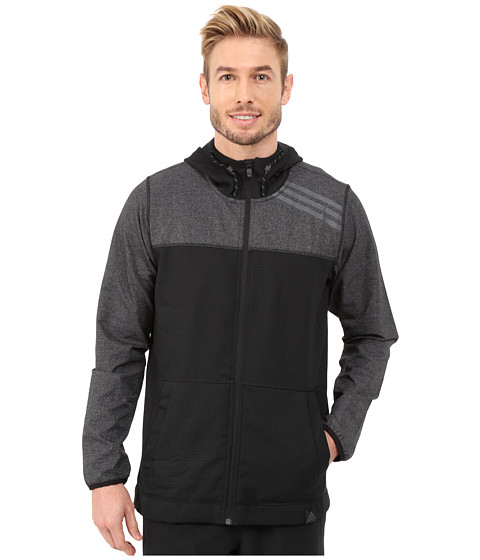 adidas - S1 Indestructible Jacket (Black/Dark Grey Heather/Solid Grey) Men's Coat