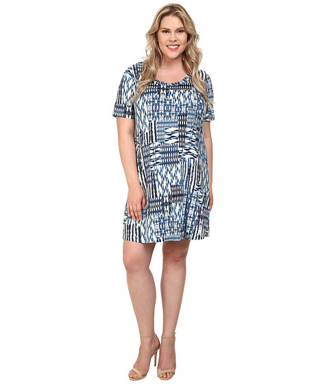 Karen Kane Plus - Plus Size Patch Print T-Shirt Dress (Print) Women's Dress
