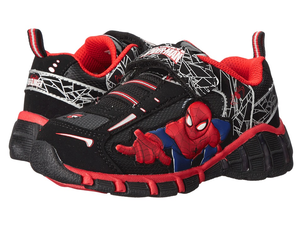 Favorite Characters - Ultimate Spiderman SPF308 Lighted (Toddler/Little Kid) (Black/Red) Boys Shoes