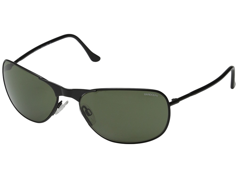 Randolph - Raptor 59mm Polarized (Black) Fashion Sunglasses