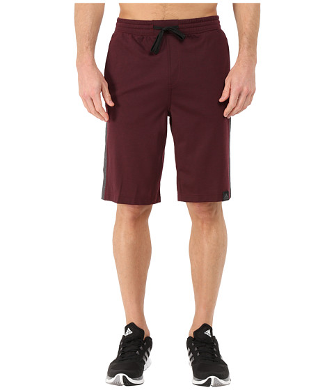 adidas - S1 Shorts (Maroon/Black) Men's Shorts