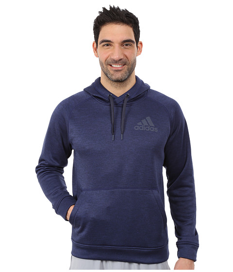 adidas - Team Issue Fleece Pullover Hoodie (Midnight Indigo/Midnight Grey Heather/Dark Grey) Men's Sweatshirt