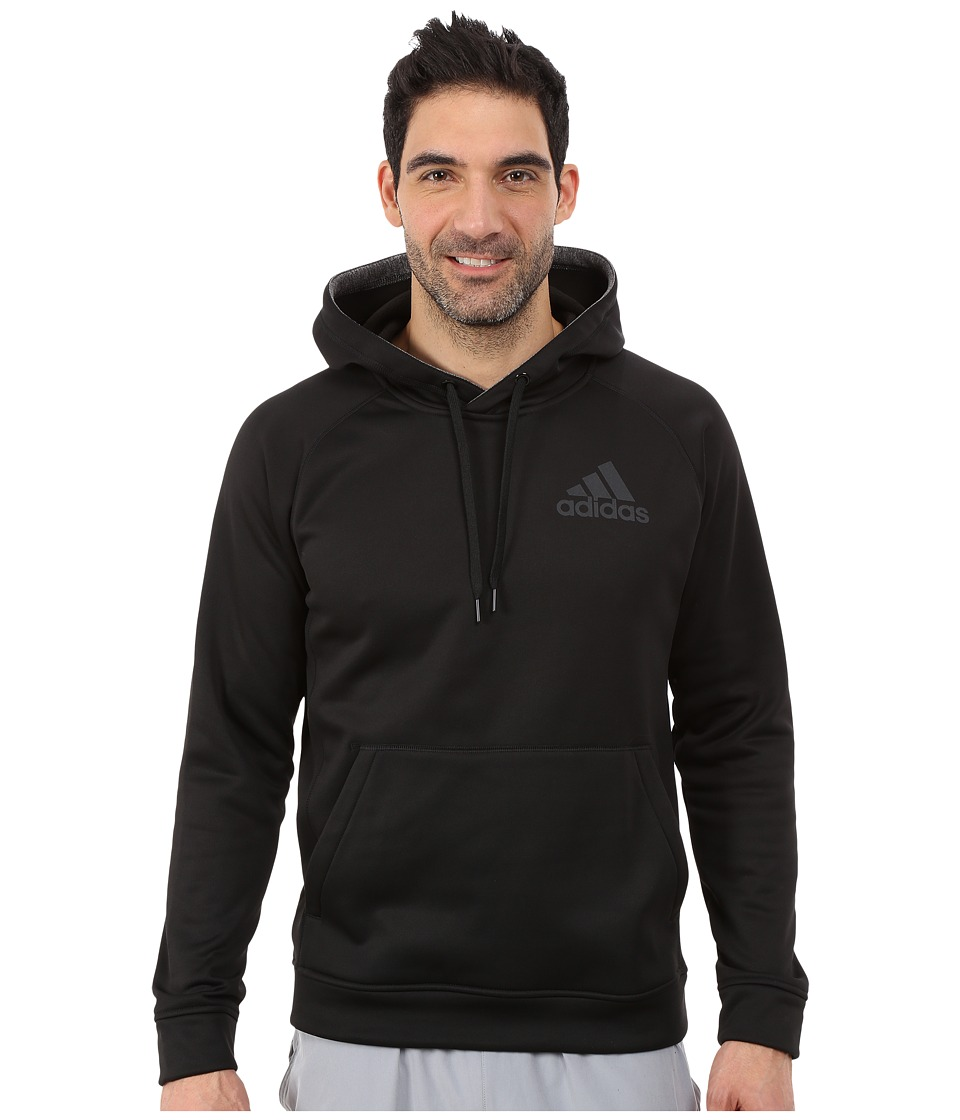 adidas - Team Issue Fleece Pullover Hoodie (Black Heather/Dark Grey) Men's Sweatshirt