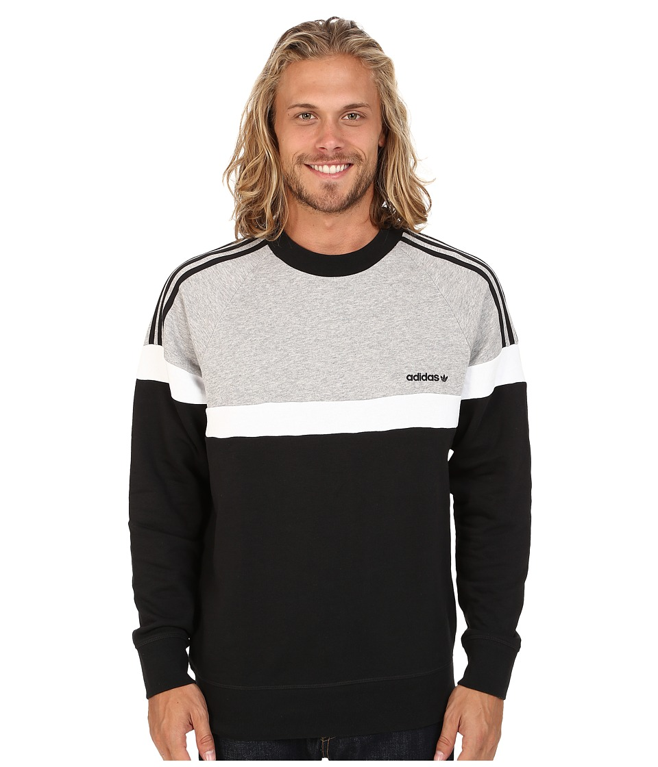 adidas Originals - Itasca Crew (Black/Medium Grey Heather/White) Men's Sweater
