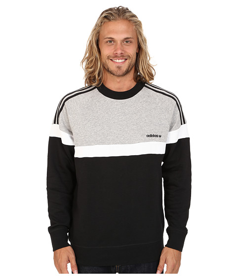 adidas Originals - Itasca Crew (Black/Medium Grey Heather/White) Men
