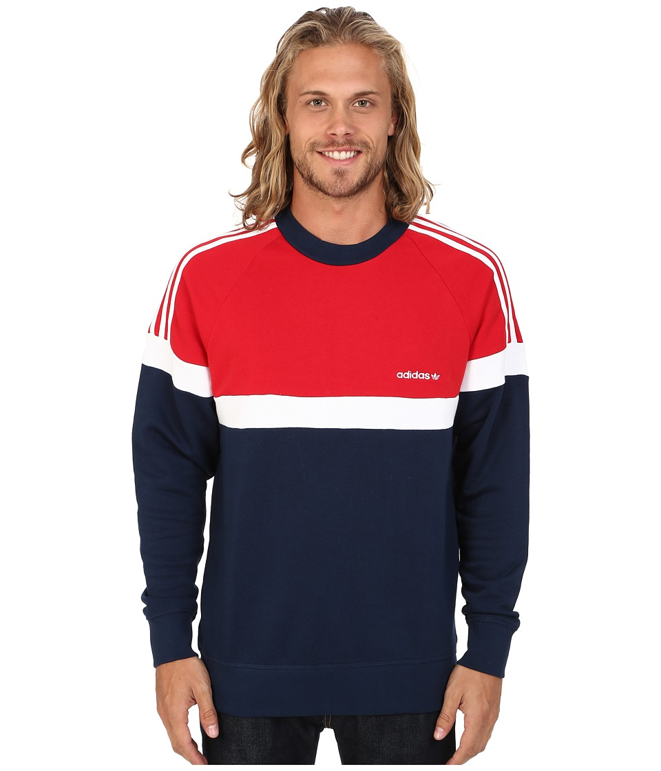 adidas Originals - Itasca Crew (Collegiate Navy/Scarlet/White) Men's Sweater
