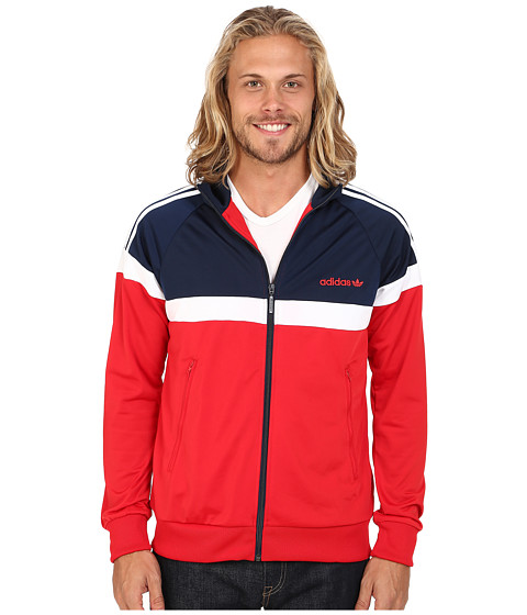 adidas Originals - Itasca Track Top (Scarlet/Collegiate Navy/White) Men's Clothing