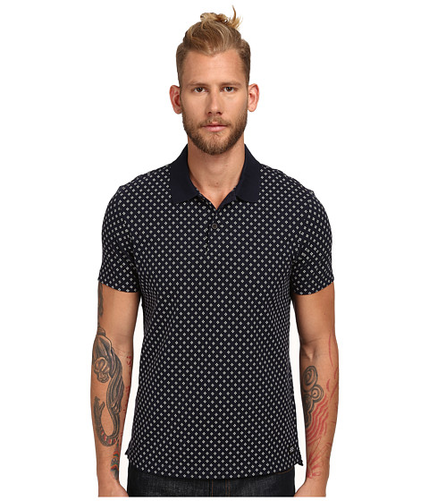 Jack Spade - Eskridge Dot Polo (Navy) Men's Clothing