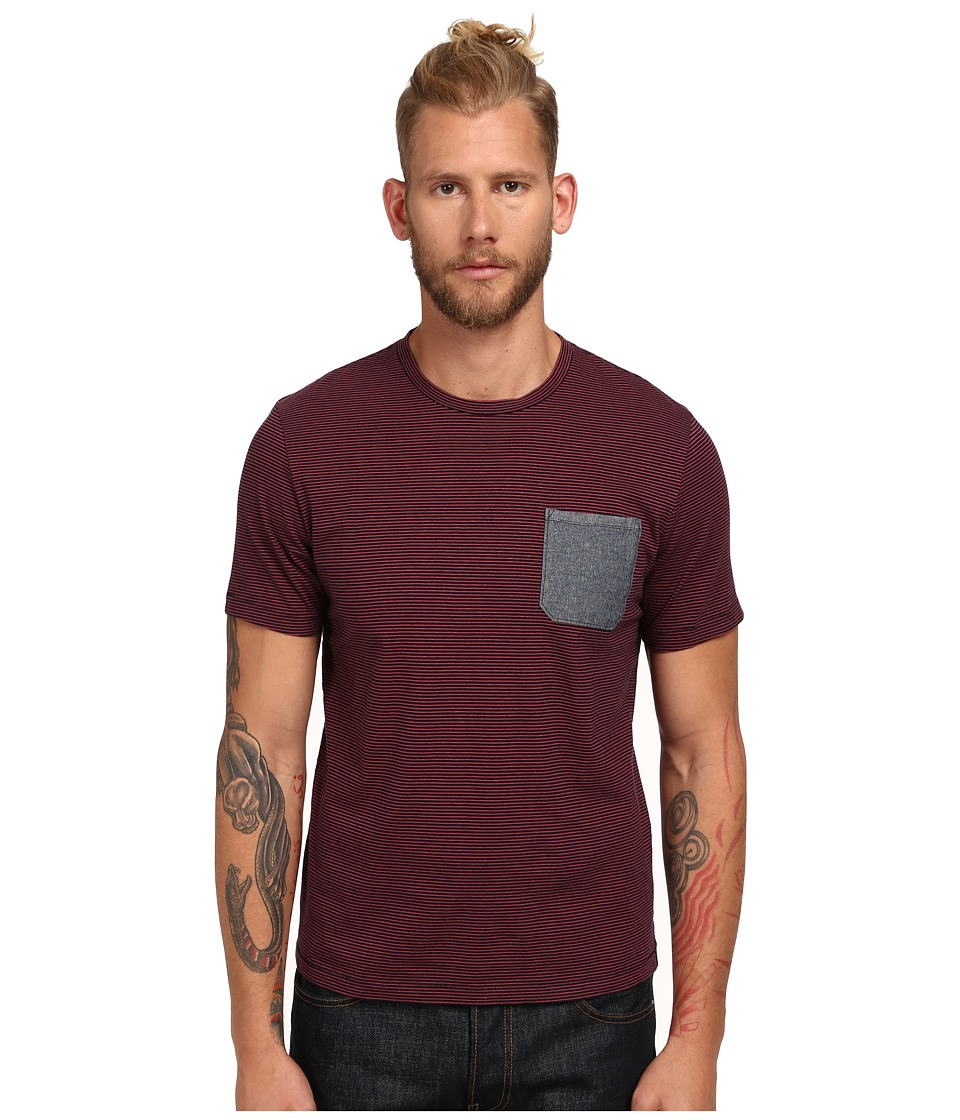 Jack Spade - Friedman Pocket T-Shirt (Red Stripe) Men