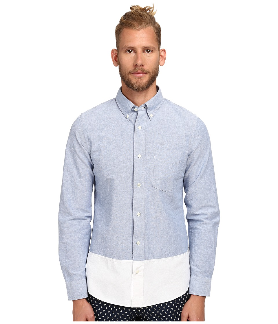 Jack Spade - Hirst Colorblock Oxford Shirt (Blue) Men