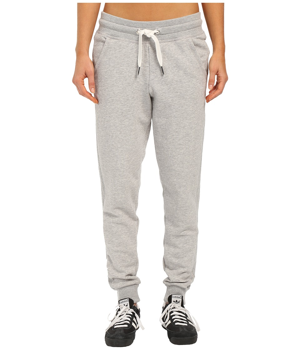 adidas Originals - Slim Cuffed Track Pants (Medium Grey Heather) Women's Casual Pants