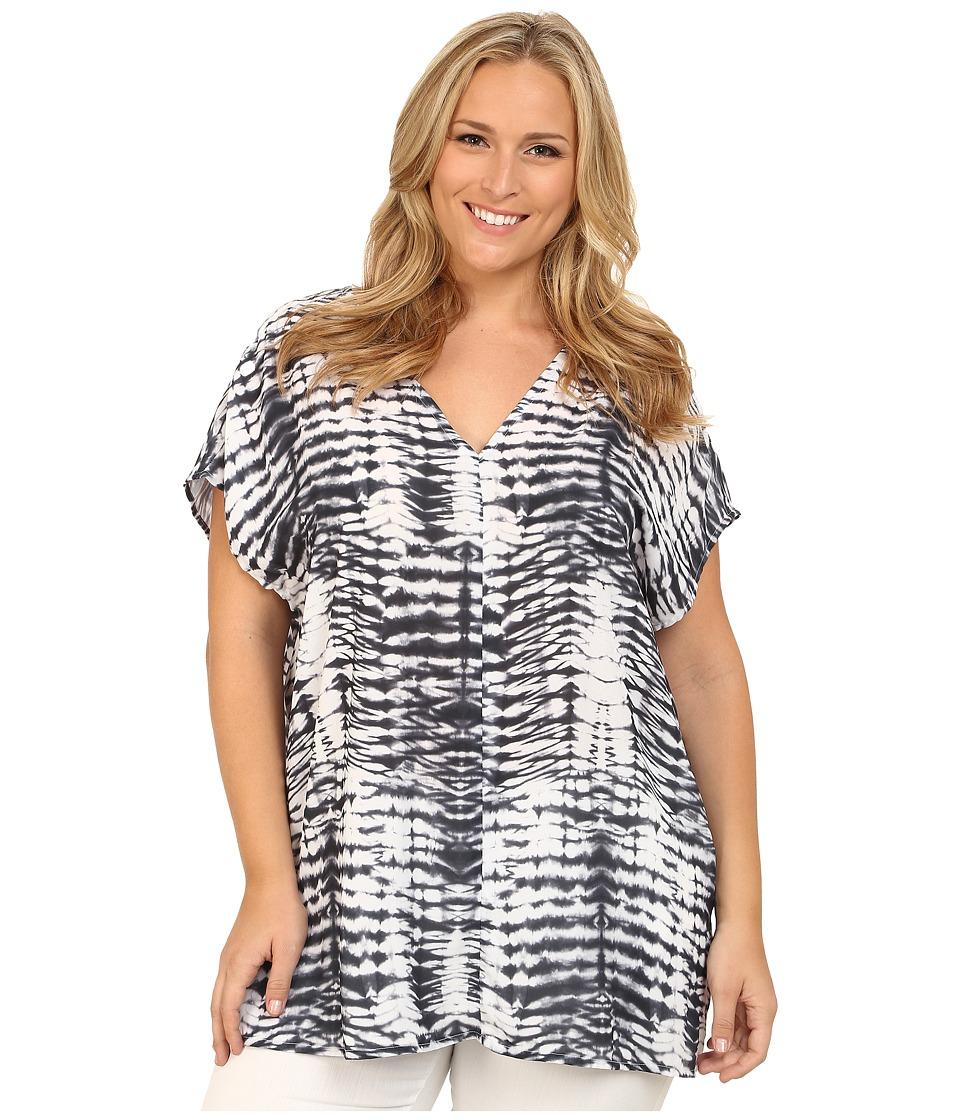 Karen Kane Plus - Plus Size Tie-Dye Print Tunic (Print) Women's Blouse