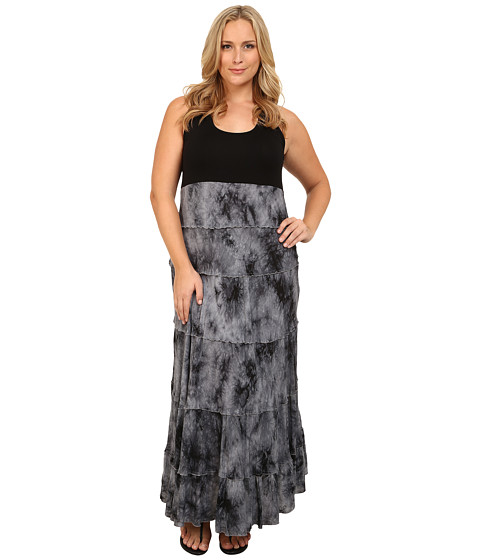 Karen Kane Plus - Plus Size Tie-Dye Print Maxi Dress (Print) Women's Dress