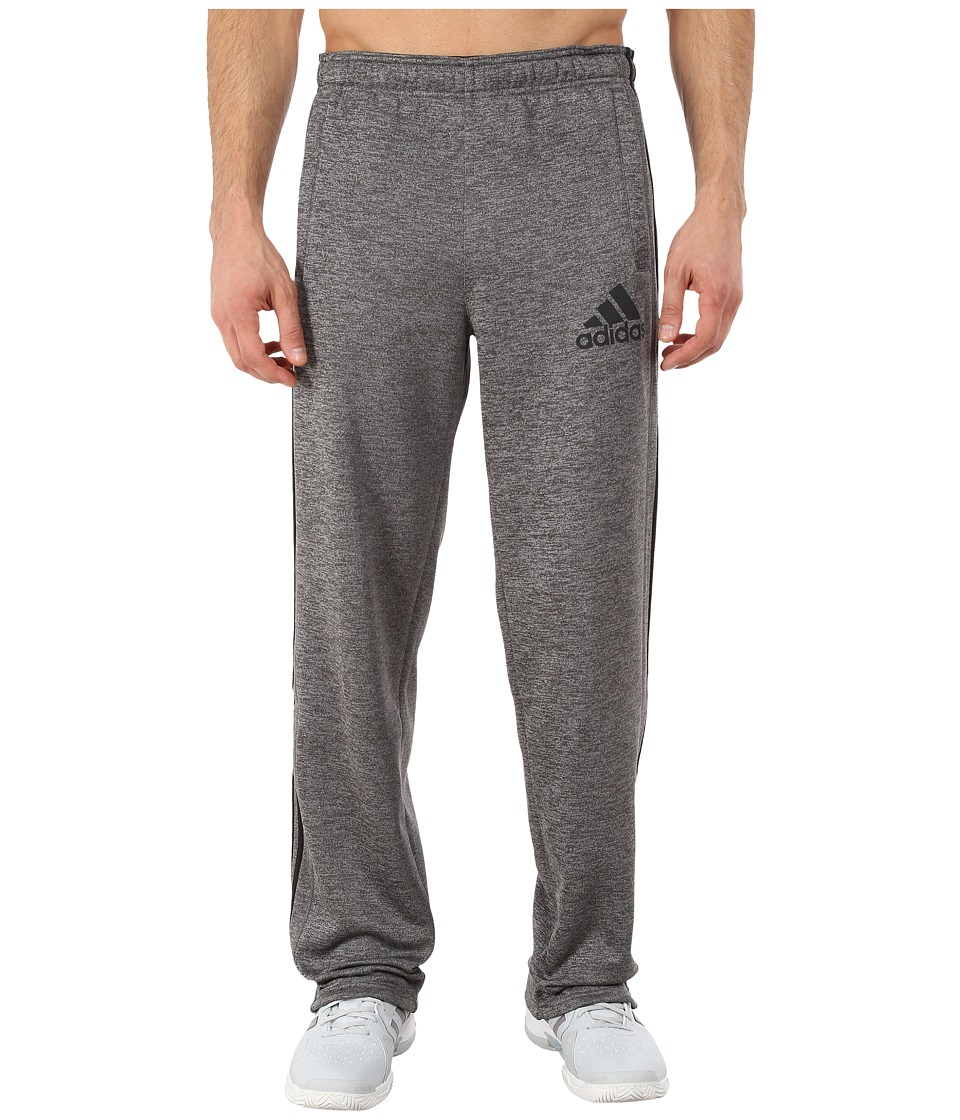 adidas - Team Issue Fleece 3-Stripes Pants (Dark Grey Heather/Black/Dark Grey) Men