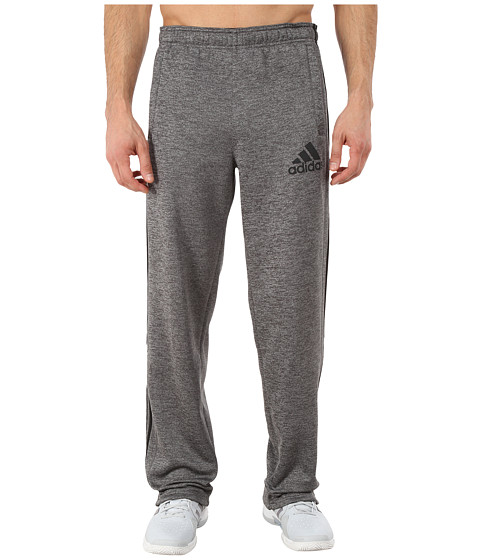 adidas - Team Issue Fleece 3-Stripes Pants (Dark Grey Heather/Black/Dark Grey) Men's Casual Pants