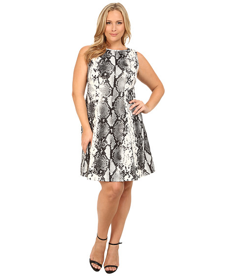 Karen Kane Plus - Plus Size Snake Print Scuba Dress (Print) Women's Dress