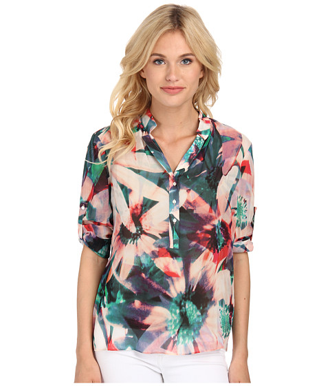Nicole Miller - Floral Tropical Blouse (Multi) Women's Blouse