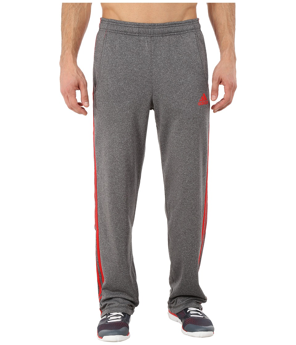 adidas - Ultimate Fleece 3S Pants (Dark Grey Heather/Solid Grey/Vivid Red) Men's Workout